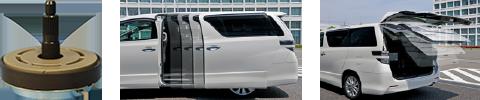sliding door / rear hatch clutch